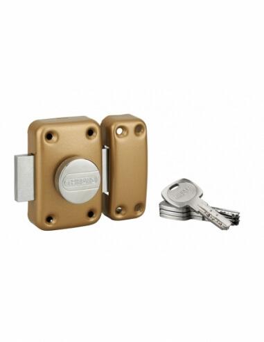 Thirard - Verrou de porte d'entrée transit 2 à bouton et cylindre 50 mm Verrous