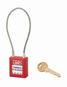 Thirard - Cadenas 40 mm câble acier Ø 3 X 240 mm - 1 clé