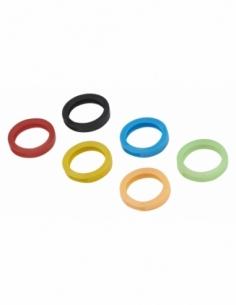 6 anneaux de clé, noir, bleu, vert, rouge, jaune, orange - THIRARD Equipement