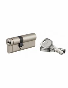 Cylindre 45x30mm nickelé 4 clés Cylindre à double entrée