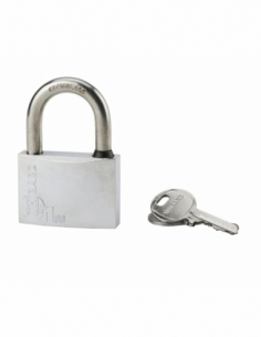 Cadenas à clé Type 1, extérieur, laiton chromé, 60mm, 2 clés - THIRARD Cadenas à clé