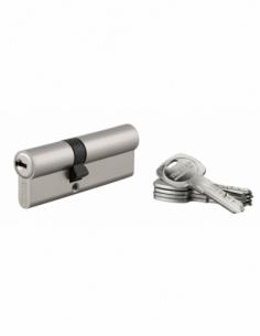 Cylindre de serrure double entrée Trafic 6, 35x50mm, anti-arrachement, anti-perçage, nickel, 5 clés - THIRARD Cylindre à doub...