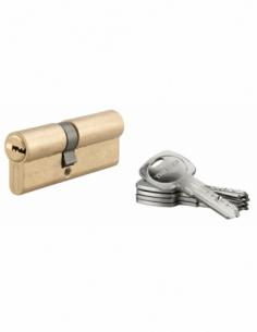 Cylindre de serrure à double entrée Tiger 6, 35x45mm, laiton, anti-arrachement, anti-perçage, 5 clés - THIRARD Cylindre à dou...