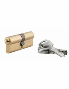 Cylindre de serrure à double entrée Tiger 6, 35x35mm, laiton, anti-arrachement, anti-perçage, 5 clés - THIRARD Cylindre à dou...