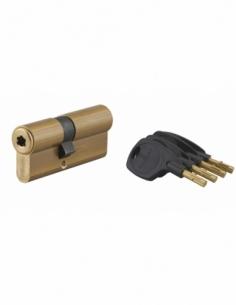 Cylindre de serrure double entrée Surveyor, 31x41mm, laiton, anti-arrachement, 4 clés - THIRARD Cylindre à double entrée