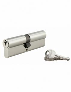 Cylindre de serrure double entrée SA, 50x50mm, anti-arrachement, nickel, 3 clés - THIRARD Cylindre à double entrée