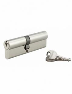 Cylindre de serrure double entrée SA, 45x55mm, anti-arrachement, nickel, 3 clés - THIRARD Cylindre à double entrée