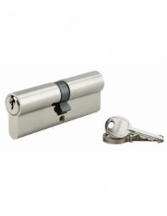Cylindre de serrure double entrée SA, 45x45mm, anti-arrachement, nickel, 3 clés - THIRARD Cylindre à double entrée