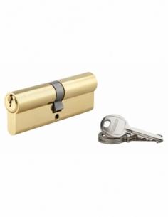 Cylindre de serrure double entrée SA, 45x45mm, anti-arrachement, laiton, 3 clés - THIRARD Cylindre à double entrée