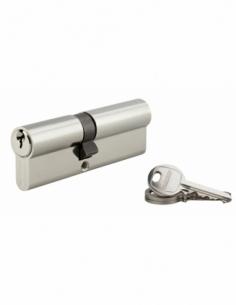 Cylindre de serrure double entrée SA, 40x50mm, anti-arrachement, nickel, 3 clés - THIRARD Cylindre à double entrée