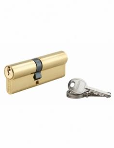 Cylindre de serrure double entrée SA, 40x50mm, anti-arrachement, laiton, 3 clés - THIRARD Cylindre à double entrée