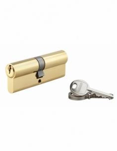 Cylindre de serrure double entrée SA, 40x45mm, anti-arrachement, laiton, 3 clés - THIRARD Cylindre à double entrée