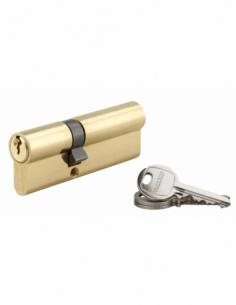 Cylindre de serrure double entrée SA, 35x55mm, anti-arrachement, laiton, 3 clés - THIRARD Cylindre à double entrée
