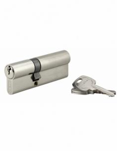 Cylindre de serrure double entrée, 35x55mm, anti-arrachement, nickel, 3 clés - THIRARD Cylindre à double entrée