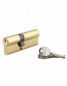 Cylindre de serrure double entrée SA, 35x50mm, anti-arrachement, laiton, 3 clés - THIRARD Cylindre à double entrée