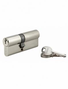 Cylindre de serrure double entrée SA, 35x45mm, anti-arrachement, nickel, 3 clés - THIRARD Cylindre à double entrée