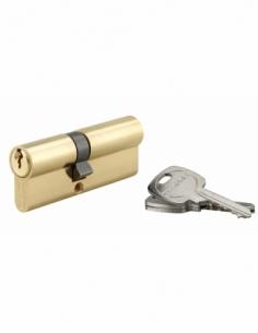 Cylindre de serrure double entrée, 35x45mm, anti-arrachement, laiton, 3 clés - THIRARD Cylindre à double entrée