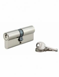 Cylindre de serrure double entrée SA, 35x40mm, anti-arrachement, nickel, 3 clés - THIRARD Cylindre à double entrée