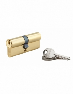 Cylindre de serrure double entrée SA, 35x45mm, anti-arrachement, laiton, 3 clés - THIRARD Cylindre à double entrée