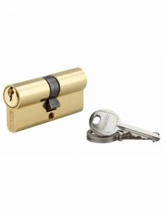 Cylindre de serrure double entrée SA, 35x35mm, anti-arrachement, laiton, 3 clés - THIRARD Cylindre à double entrée