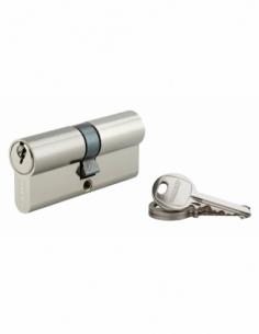 Cylindre de serrure double entrée SA, 35x35mm, anti-arrachement, nickel, 3 clés - THIRARD Cylindre à double entrée