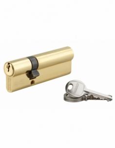 Cylindre de serrure double entrée SA, 30x65mm, anti-arrachement, laiton, 3 clés - THIRARD Cylindre à double entrée