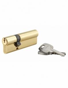 Cylindre de serrure double entrée, 30x60mm, anti-arrachement, laiton, 3 clés - THIRARD Cylindre à double entrée