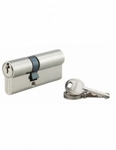 Cylindre de serrure double entrée SA, 30x55mm, anti-arrachement, nickel, 3 clés - THIRARD Cylindre à double entrée