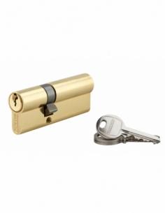 Cylindre de serrure double entrée SA, 30x50mm, anti-arrachement, laiton, 3 clés - THIRARD Cylindre à double entrée