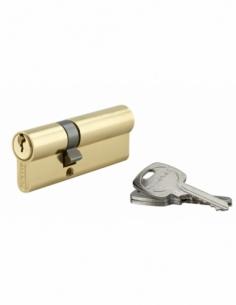Cylindre de serrure double entrée, 30x50mm, anti-arrachement, laiton, 3 clés - THIRARD Cylindre à double entrée