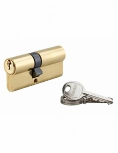 Cylindre de serrure double entrée SA, 30x40mm, anti-arrachement, laiton, 3 clés - THIRARD Cylindre à double entrée