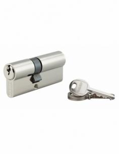Cylindre de serrure double entrée SA, 30x40mm, anti-arrachement, nickel, 3 clés - THIRARD Cylindre à double entrée