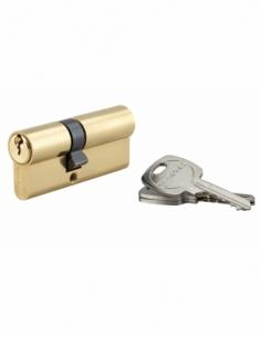Cylindre de serrure double entrée, 30x40mm, anti-arrachement, laiton, 3 clés - THIRARD Cylindre à double entrée