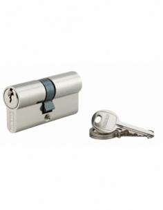 Cylindre de serrure double entrée SA, 30x35mm, anti-arrachement, nickel, 3 clés - THIRARD Cylindre à double entrée