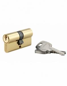 Cylindre de serrure double entrée, 30x30mm, anti-arrachement, laiton, 3 clés - THIRARD Cylindre à double entrée