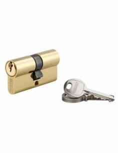 Cylindre de serrure double entrée SA, 30x30mm, anti-arrachement, laiton, 3 clés - THIRARD Cylindre à double entrée