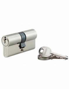 Cylindre de serrure double entrée SA, 30x30mm, anti-arrachement, nickel, 3 clés - THIRARD Cylindre à double entrée