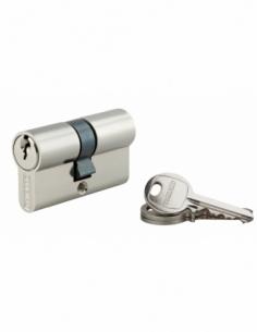 Cylindre de serrure double entrée SA, 27x27mm, anti-arrachement, nickel, 3 clés - THIRARD Cylindre à double entrée