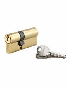 Cylindre de serrure double entrée SA, 25x40mm, anti-arrachement, laiton, 3 clés - THIRARD Cylindre à double entrée