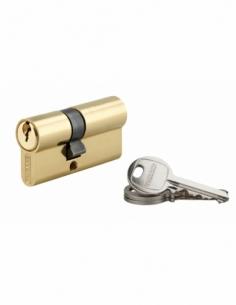 Cylindre de serrure double entrée SA, 25x35mm, anti-arrachement, laiton, 3 clés - THIRARD Cylindre à double entrée
