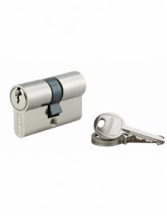 Cylindre de serrure double entrée SA, 25x25mm, anti-arrachement, nickel, 3 clés - THIRARD Cylindre à double entrée