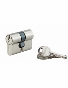 Cylindre de serrure double entrée SA, 21x21mm, anti-arrachement, nickel, 3 clés - THIRARD Cylindre à double entrée