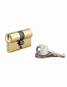 Cylindre de serrure double entrée SA, 21x21mm, anti-arrachement, laiton, 3 clés - THIRARD Cylindre à double entrée