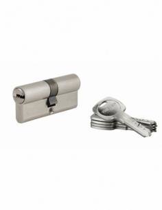 Cylindre de serrure à double entrée Tiger 6, 35x35mm, nickel, anti-arrachement, anti-perçage, 5 clés - THIRARD Cylindre à dou...