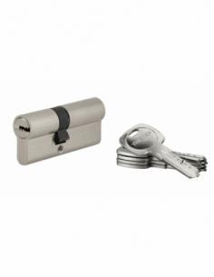 Cylindre de serrure à double entrée Tiger 6, 30x40mm, nickel, anti-arrachement, anti-perçage, 5 clés - THIRARD Cylindre à dou...