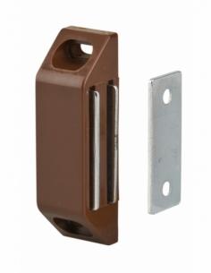 Loqueteau magnétique force 3 - max 6kg, pour porte d'ameublement, marron - THIRARD Serrure de meuble
