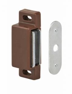 Loqueteau magnétique force 2 - max 4kg, pour porte d'ameublement, marron - THIRARD Serrure de meuble