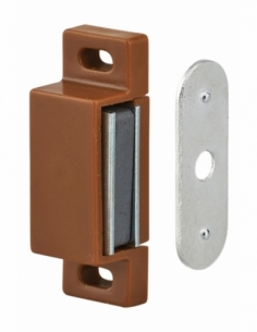 Loqueteau magnétique force 1 - max 3kg,pour porte d'ameublement, marron - THIRARD Serrure de meuble