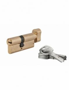 Cylindre de serrure à bouton Tiger 6, 40Bx30mm, laiton, anti-arrachement, anti-perçage, 5 clés - THIRARD Cylindre à bouton