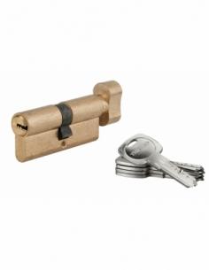 Cylindre de serrure à bouton Tiger 6, 35Bx35mm, laiton, anti-arrachement, anti-perçage, 5 clés - THIRARD Cylindre à bouton